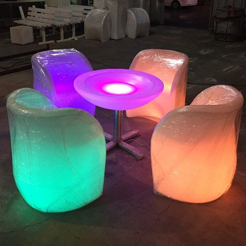 LED BAR  chair Table Cube Counter LED