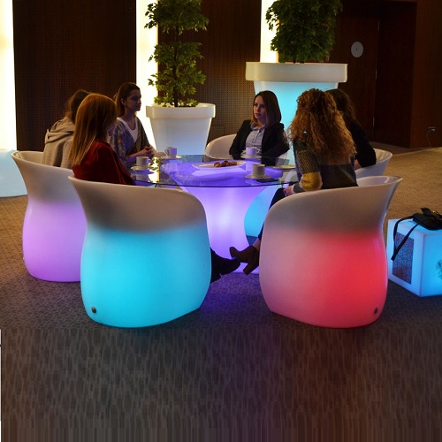 Table Cube Counter LED SOFA
